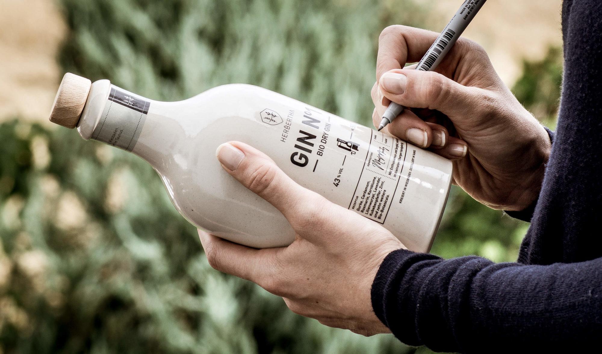 Nummerierung der Flasche
